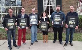 Jan and Canton Junction Receive #1 plaques